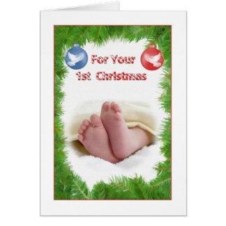 De Eerste Kerstkaart van de baby Kaart