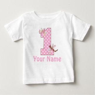 De eerste Libel van de Verjaardag Baby T Shirts