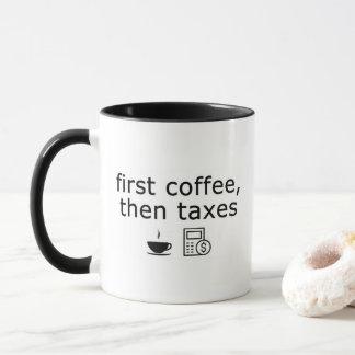 De eerste Mok van de Belastingen van de Koffie