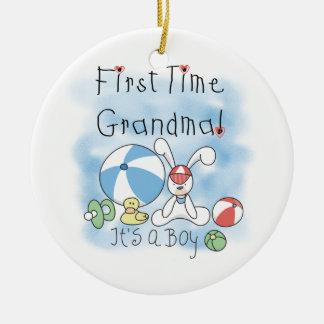 De eerste Oma van de Keer van de Giften van de Rond Keramisch Ornament