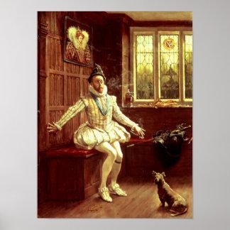 De Eerste Rook van de heer Walter Raleigh Poster