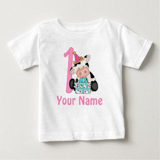De eerste Roze Koe van het Feestvarken Baby T Shirts