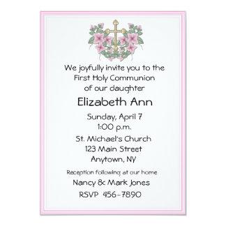 De eerste Roze Uitnodiging van de Heilige Communie