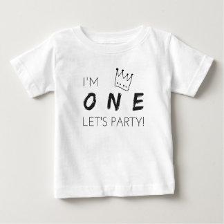 """De eerste T-shirt van de Verjaardag """"ik ben ÉÉN,"""