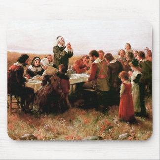 De eerste Thanksgiving in Plymouth Mousepad Muismat