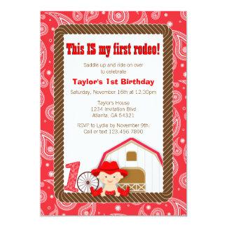 De eerste Uitnodiging van de Verjaardag van de
