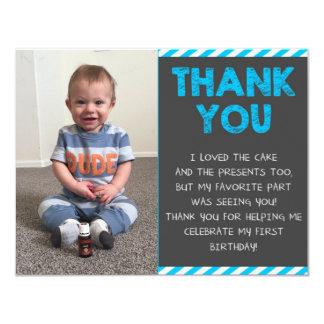 De eerste Verjaardag dankt u 10,8x13,9 Uitnodiging Kaart