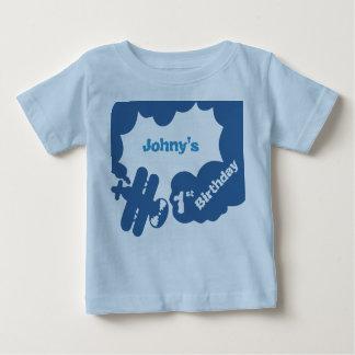 de eerste Verjaardag van de baby, eerste van de Baby T Shirts