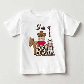 De Eerste Verjaardag van de cowboy Baby T Shirts