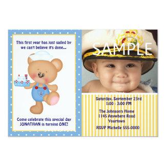 De Eerste Verjaardag van de Foto van de teddybeer Kaart