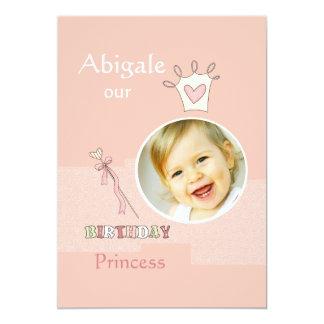 De Eerste Verjaardag van de prinses - de Partij 12,7x17,8 Uitnodiging Kaart