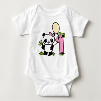 De Eerste Verjaardag van het Meisje van de panda Romper