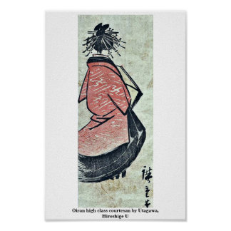 De eersteklas courtisane van Oiran door Utagawa, U Poster
