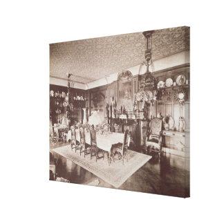De eetkamer, Wickham Zaal, Kent, 1897 Canvas Afdruk