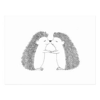 De egel Leuke I houdt van u Briefkaart