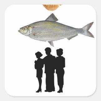 De egoïstische Mensen zuigen Vierkante Sticker