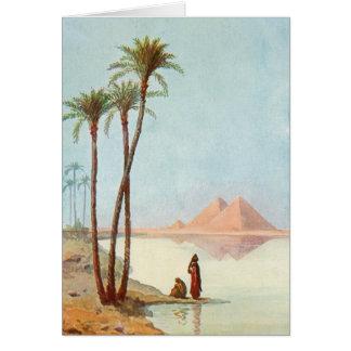De Egyptische Gelukwensen Egypte van Piramides Kaart