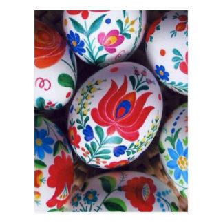 De eieren van de groetenkalocsai van Pasen Briefkaart