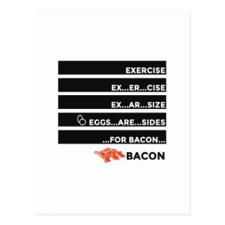 De eieren zijn Kanten voor Bacon Briefkaart