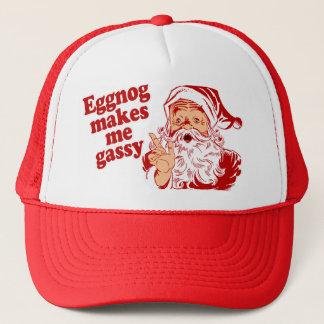 De eierpunch maakt Kerstman Flatulent Trucker Pet