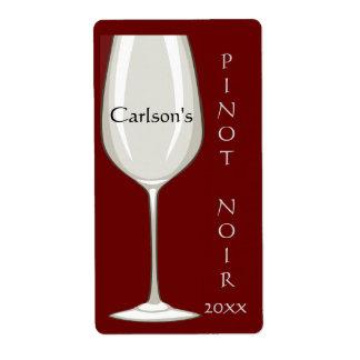 De eigengemaakte Etiketten van de Wijn van het