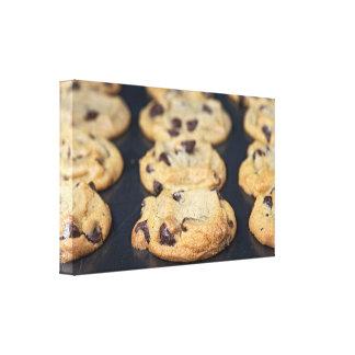 de eigengemaakte Koekjes van de Chocoladeschilfer Canvas Afdruk