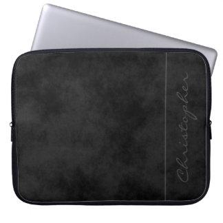 * De eigentijdse Handtekening vlekte Zwarte Laptop Sleeve Hoesjes