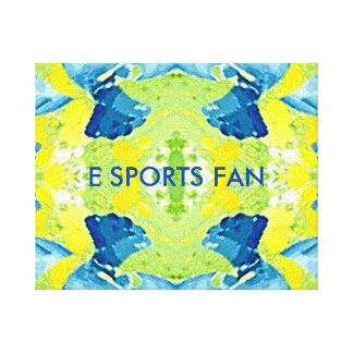 De eigentijdse Samenvatting van e- Sporten Stretched Canvas Print