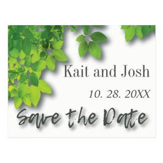 De Eik van de herfst bewaart de Datum Briefkaart