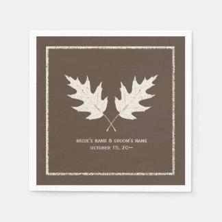 De eiken Servetten van het Huwelijk van de Herfst Papieren Servetten