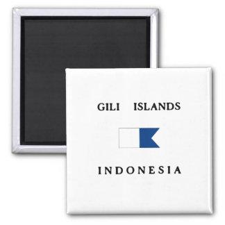 De Eilanden Alpha- Indonesië van Gili duiken Vlag Vierkante Magneet