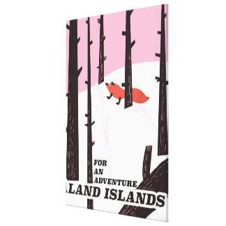 De Eilanden van Åland, de reisposter van Finland Canvas Print