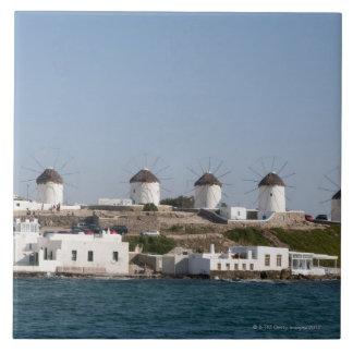 De Eilanden van Griekenland, Cycladen, Mykonos, Keramisch Tegeltje