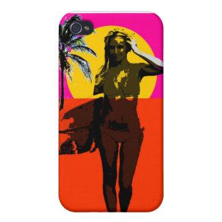 De eindeloze Zomer surf Meisje iPhone 4/4S Hoesjes