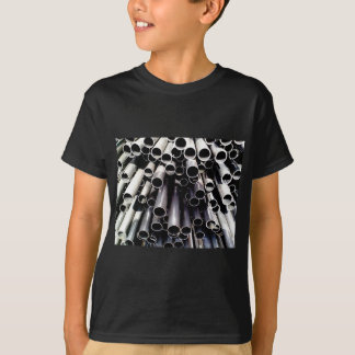 de einden van de metaalbuis t shirt