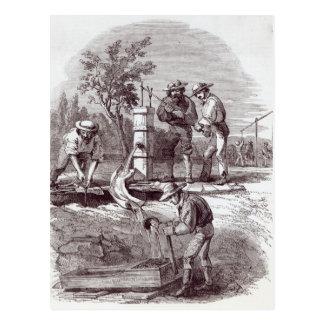 De eis van het rivierbed op Turon Briefkaart