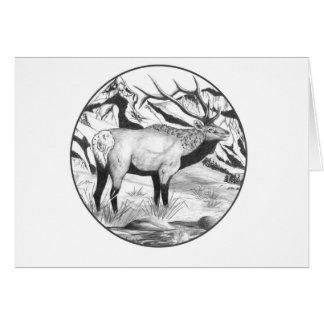 De elanden van de stier wenskaart