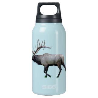 De elanden van de Wapitiherten van de wilg Geïsoleerde Waterfles