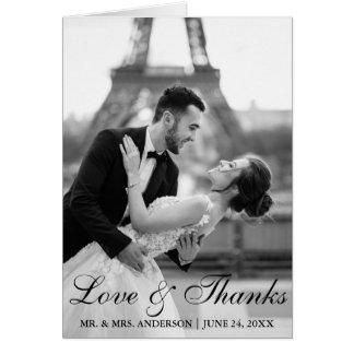De elegant en Modern Liefde en Bedankt N van de Briefkaarten 0
