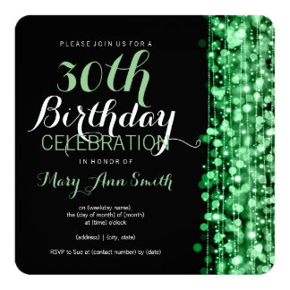 De elegante 30ste Partij van de Verjaardag fonkelt Uitnodiging