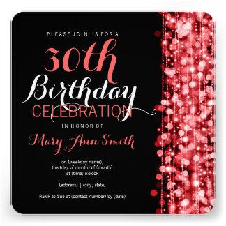 De elegante 30ste Partij van de Verjaardag fonkelt Uitnodigingen
