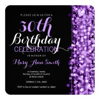 De elegante 30ste Partij van de Verjaardag fonkelt Aankondiging
