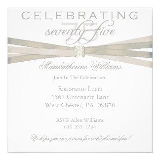 De elegante 75ste Uitnodigingen van de Partij van