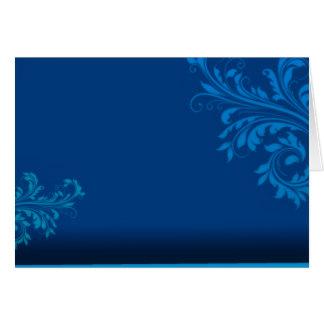 De elegante blauwachtige Paisley vectorgift van de Kaart
