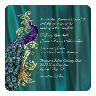 De elegante Blauwgroen Uitnodiging van het