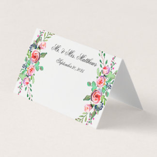 De elegante Bloemen Gepersonaliseerde Kaart van de