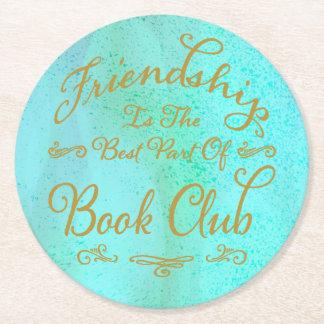 De elegante Boekenclub van het Goud Faux en van de Ronde Onderzetter