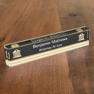 De elegante Borden van de Naam van het Bureau van