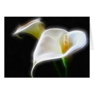 De elegante Calla Lelie bloeit Moderne 16 Wenskaart