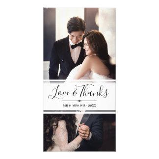 De elegante Collage van de Foto van het Huwelijk Kaart